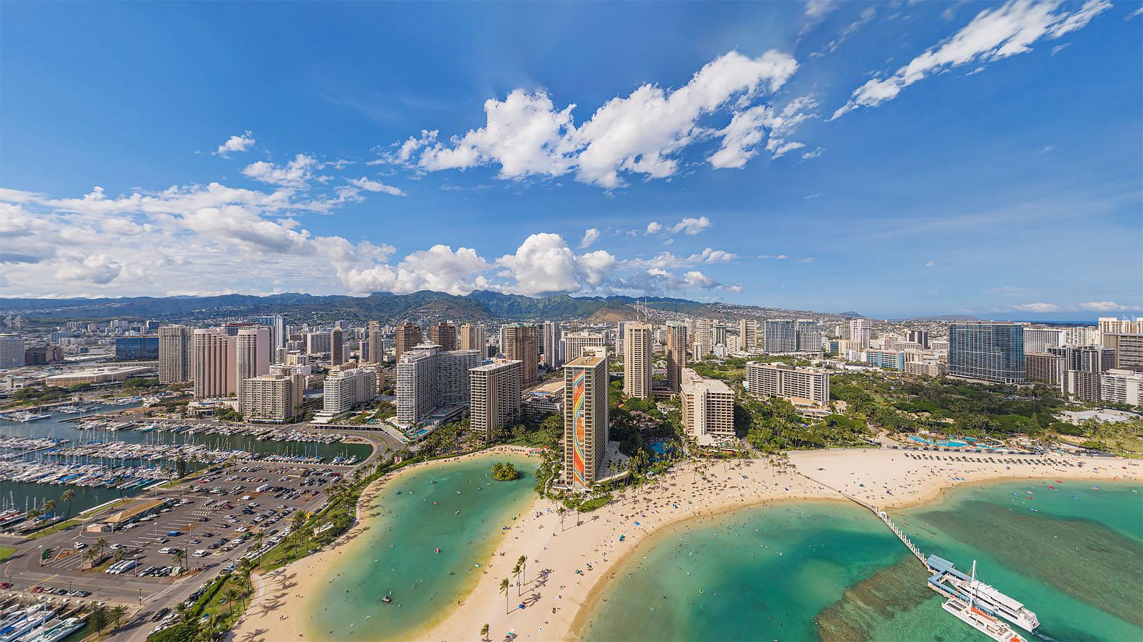 Aerial Panorama of Developments - Waikiki